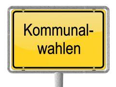 Kommunalwahlen Ortsschild