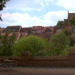 Ansicht der Stadt Penzlin mit Kirche